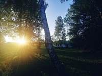 Západ slunce se stane nezapomenutelným - chalupa k pronájmu Křižánky