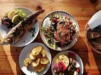 Letní restaurace 50m od domu - pronájem rekreačního domu Telč
