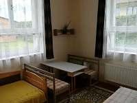 obytná ložnice - chalupa ubytování Hlohov