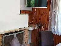 pohled z gauče - chata k pronájmu Pokojov