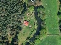 letecký pohled okolí - pronájem chaty Kamenná