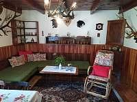 Obývací pokoj se dvěmi lůžky - pronájem chaty Kamenná