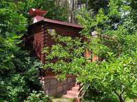 Venkovní finská sauna - chata k pronajmutí Kamenná