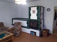 Obývací pokoj - chalupa k pronajmutí Budíškovice