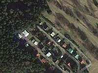 Chata Kateřina - letecký snímek umístění chaty - Trhová Kamenice