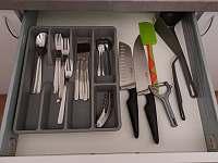 vybavení kuchyně - apartmán ubytování Nové Město na Moravě