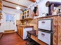 Kuchyně - pronájem chalupy Fryšava pod Žákovou horou