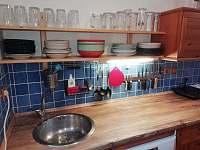 kuchyňský kout - chalupa ubytování Uhřínov