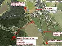 Mapka cesty k chatě