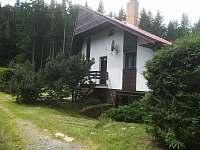 Příjezd k chatě - pronájem Polnička