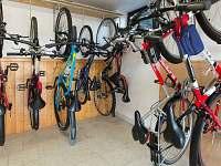 Půjčovna sportovních potřeb (kola, kolečkové brusle, rakety..)