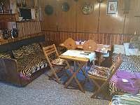 Společenská místnost - jiný pohled - chata ubytování Škrdlovice - Velké Dářko