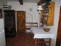Kuchyň - chalupa ubytování Chroustov