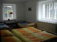 Velká ložnice v apartmánu - pronájem chalupy Malá Losenice