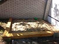 pískoviště pro děti na dvoře