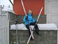 zimní vyžití v lyžařské stopě