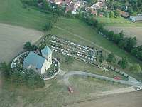 Vítochov z vrtulníku - chalupa k pronájmu Dalečín