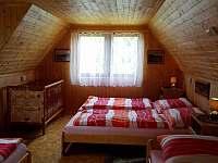 ložnice - chata k pronájmu Skála u Havlíčkova Brodu