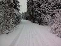 běžkařské stopy - Hluboká u Krucemburku