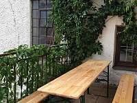 balkonové posezení - apartmán ubytování Rohozná