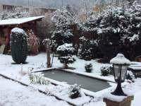 Jezírko v zimě - chalupa k pronájmu Nedvědice