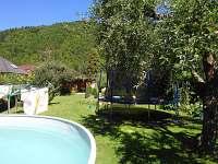 Zahrada u bazénu