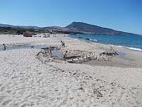 písečná pláž - Sardinie