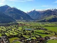 Letní pohled na ledovec na Kitzsteinhoru - apartmán k pronajmutí Rakousko