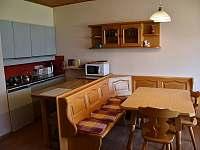 Jídelní kout s kuchyňským koutem - pronájem apartmánu Tauplitz - Rakousko