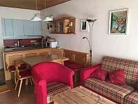Obývací pokoj s kuchyňským koutem - apartmán ubytování Tauplitz - Rakousko