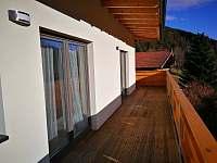 balkon - apartmán ubytování Tux - Rakousko
