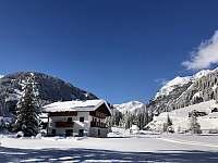 Pohled na běžkařskou trasu - chalupa k pronajmutí Sankt Jakob in Defereggen