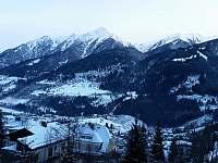 výhled z balkonu zima - apartmán k pronájmu Bad Gastein - Rakouské Alpy