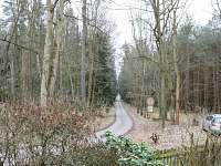 pohled z verandy - směr zámek Kozel