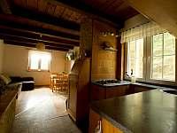 Pohled z předsíně - chata ubytování Mrákov - Mlýneček