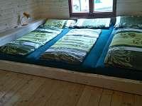 ložnice v patře chatky