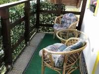 balkon - pronájem rekreačního domu Labuť
