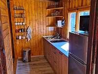 kuchyň - chata k pronájmu Pňovany - Valečkův Mlýn