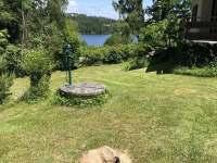 Ohniště s výhledem na rybník - chata k pronájmu Hnačov - Skránčice