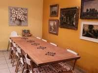Chalupa Racov - Obývací pokoj jídelní stůl -