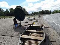 možnost zapůjčení loďky - chata k pronajmutí Vikletice