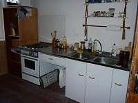 Apartmán A - kuchyňská linka - chalupa k pronájmu Hleďsebe - Bystřice