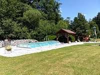 Bazén s pergolou - chalupa k pronájmu Česká Bříza
