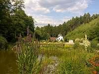 Dům - pohled od jezírka - chalupa k pronájmu Česká Bříza