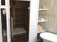 K dispozici je také sauna - apartmán k pronájmu Karlovy Vary