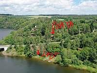 Chata U sumce - umístění - k pronájmu Čerňovice