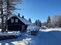 Modrý apartmán v zimě -