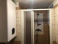 Koupelna se sprchovým koutem a WC - Soběšice u Sušice