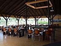 restaurace ve vedlejším kempu - chata k pronajmutí Vikletice
