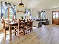obývací a jídelní kout apartmán č. 2 - pronájem Milhostov u Mariánských Lázní